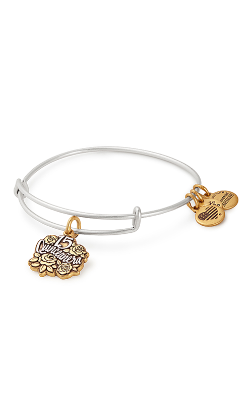 Quinceanera Two Tone Charm Bangle product image