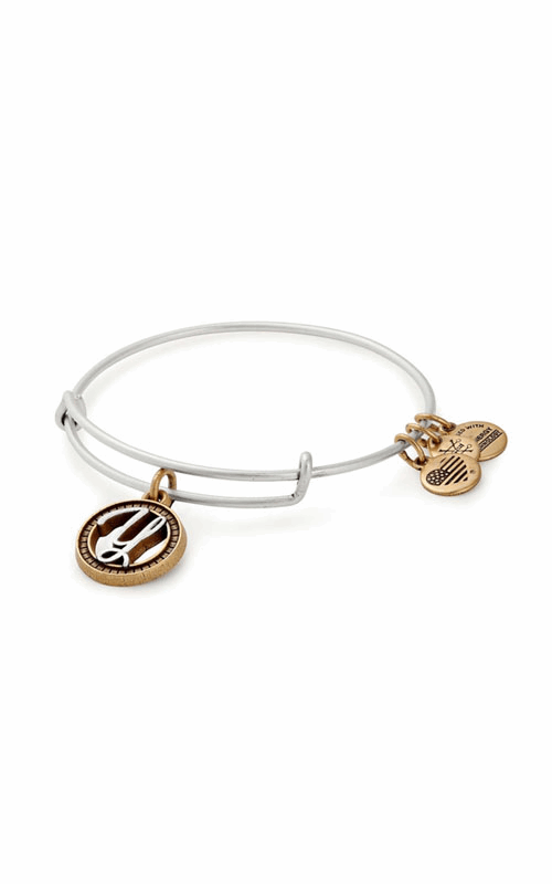 Initial Y Two Tone Charm Bangle product image