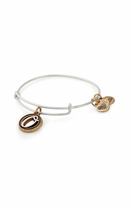 Initial O Two Tone Charm Bangle product image