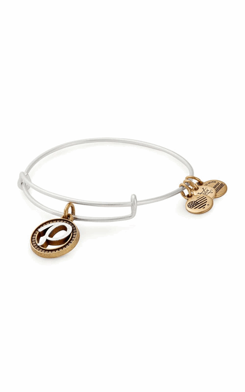 Initial P Two Tone Charm Bangle product image