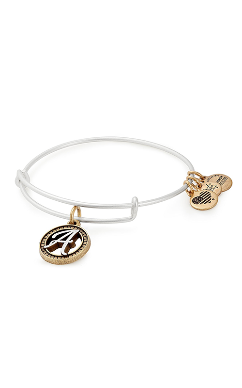 Initial A Two Tone Charm Bangle product image
