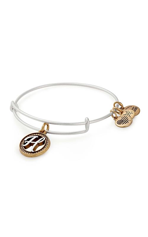 Initial H Two Tone Charm Bangle product image