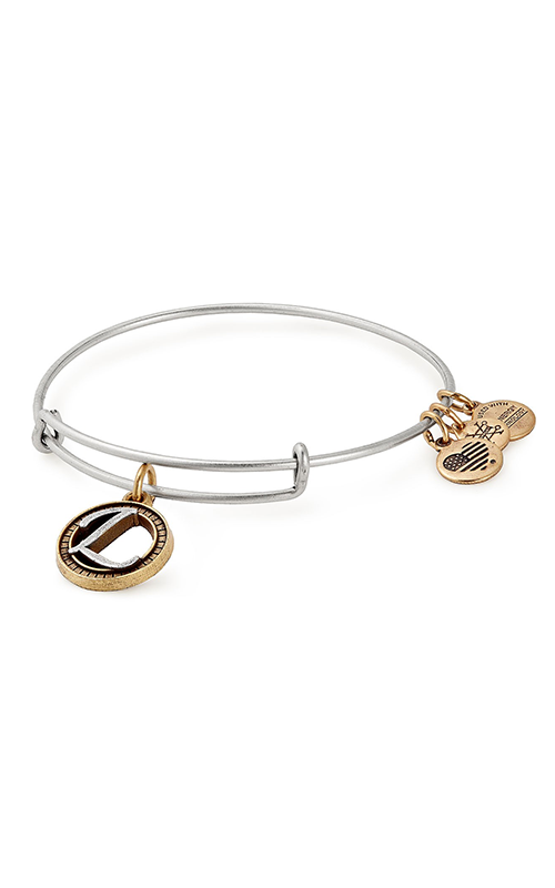 Initial L Two Tone Charm Bangle product image