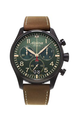 Alpina Pilot Quartz Chronograph Watch AL-372GR4FBS6 product image