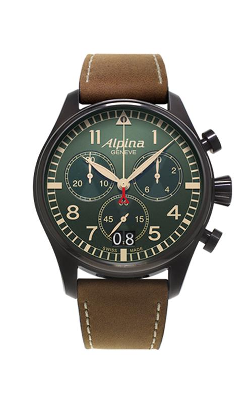 Alpina Pilot Quartz Chronograph Watch AL-372GR4FBS6 product image