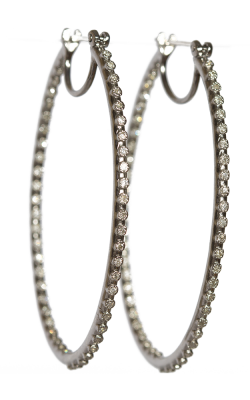 Armenta Side Eternity Diamond Hoops 02871 product image