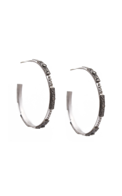 Armenta 35mm Skinny Square-motif Hoop Earrings 09744 product image