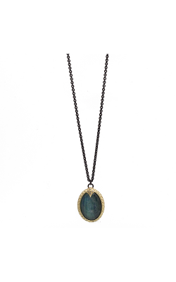 Armenta Carved Oval Drop Necklace With Malachite 09465 product image