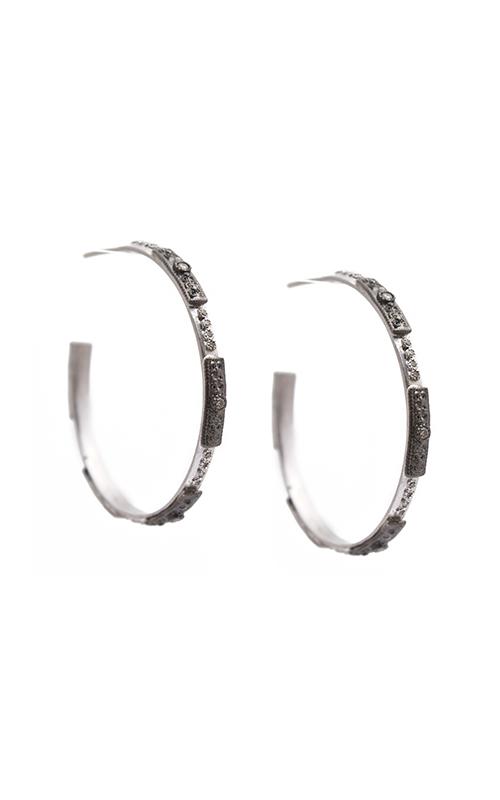 Armenta 35mm skinny square-motif hoop earrings 09744 product image