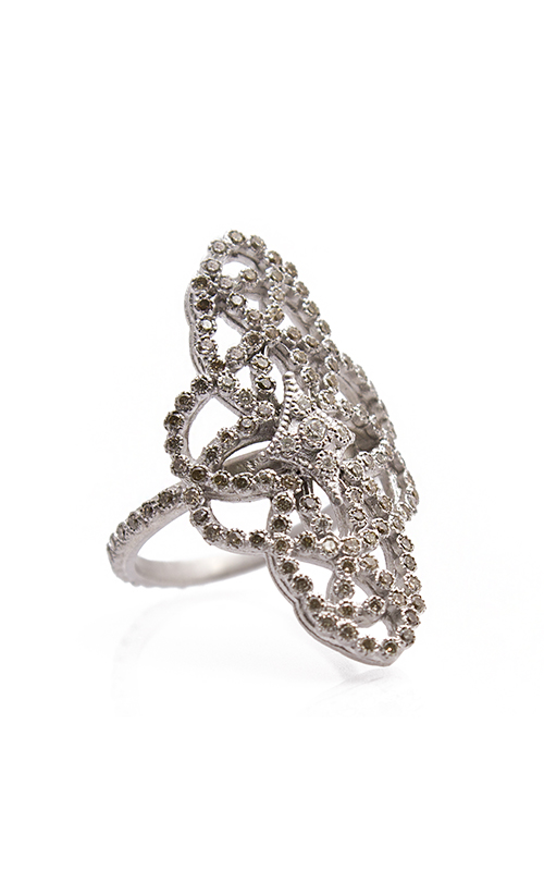 Armenta Elongated Scroll Crivelli Ring with Diamonds 07880 product image