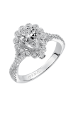 Artcarved GENEVIEVE Halo Engagement Ring 31-V562EPW-E