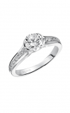 Artcarved Carina Half Bezel Engagement Ring Wht Gold Engagement Ring 31-V385ERW-E