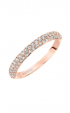 Artcarved    Diamond Band Pink Gold-A  Ladies Wedding Band  33-V9130R-L