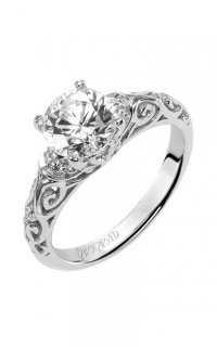 ArtCarved Vintage Engagement Ring 31-V284FRW-E product image