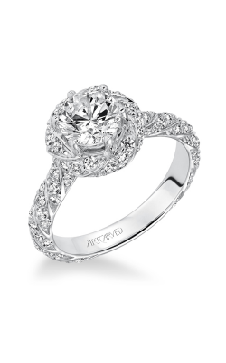 ArtCarved Contemporary Engagement Ring 31-V605ERW-E product image