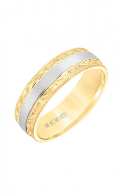 ArtCarved Engraved Wedding band 11-WV8674YW65-G product image