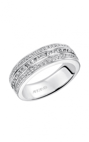 ArtCarved Contemporary Wedding band 33-V9100W-L product image