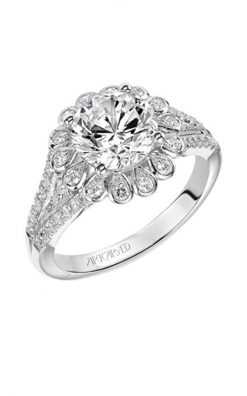 ArtCarved Contemporary Engagement ring 31-V540HRW-E product image