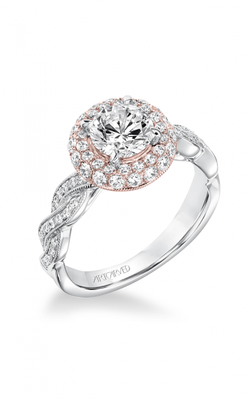 ArtCarved Contemporary Engagement ring 31-V651ERR-E product image