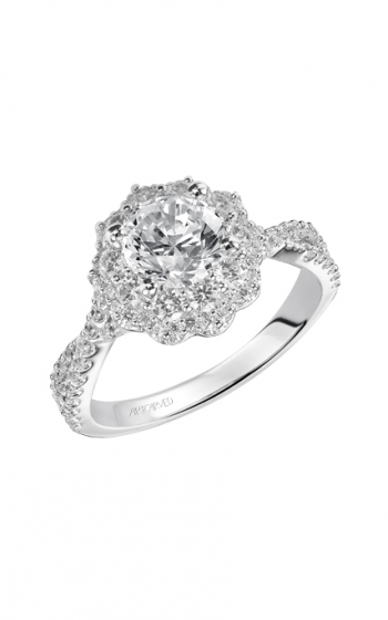 ArtCarved Contemporary Engagement ring 31-V452ERW-E product image