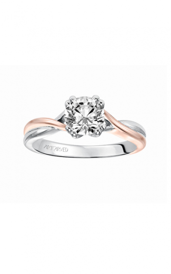 ArtCarved Contemporary Engagement ring 31-V153DRRR-E product image