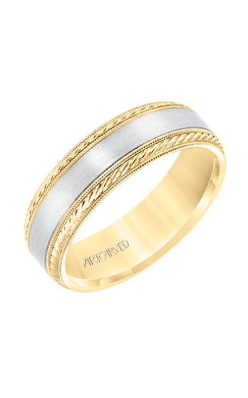 ArtCarved Engraved Wedding band 11-WV8672YW65-G product image