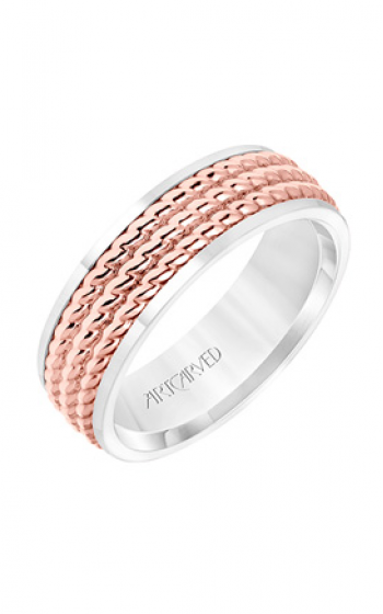 ArtCarved Engraved Wedding band 11-WV8728WR7-G product image