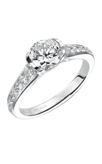 ArtCarved Contemporary Engagement ring 31-V386ERW-E product image