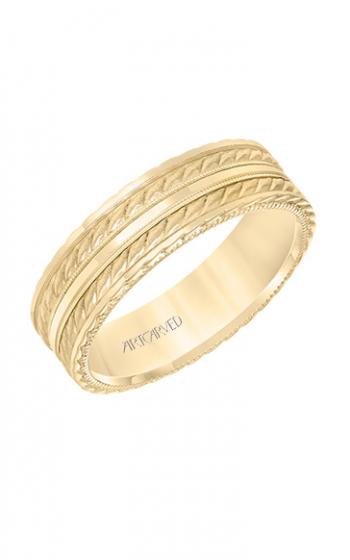ArtCarved Engraved Wedding band 11-WV8639Y65-G product image