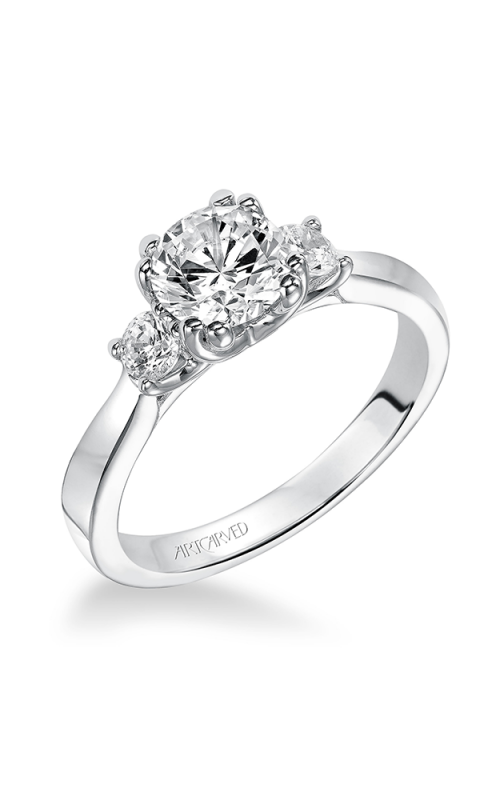 Artcarved AMANDA Three Stone Engagement Ring 31-V219ERW-E product image