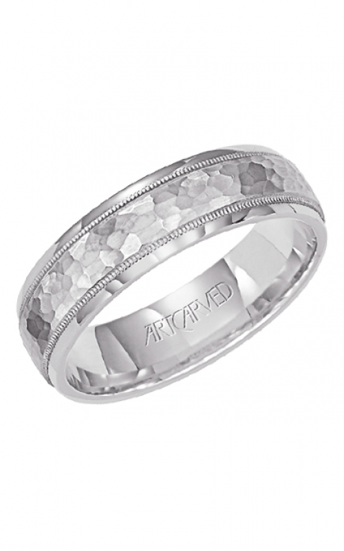 Artcarved WOODBRIDGE 6MM Hammer Wedding Ring 11-WV7173W6-G product image