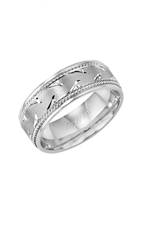Artcarved WAVES 7MM CF ENGRAVED RING 11-WV7352W-G product image