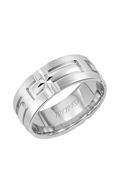 Artcarved CATHEDRAL 7MM CF ENGRAVED RING 11-WV7353W-G product image