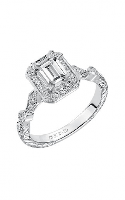 ArtCarved Vintage Engagement ring 31-V634EEW-E product image