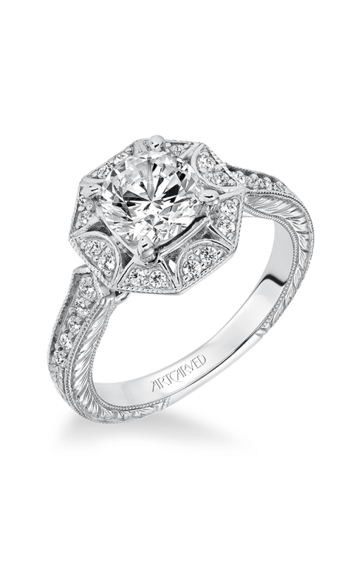ArtCarved Vintage Engagement ring 31-V635FRW-E product image