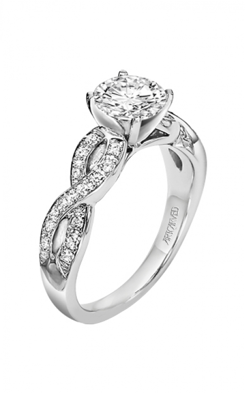 ArtCarved Contemporary Engagement ring 31-V158ERW-E product image