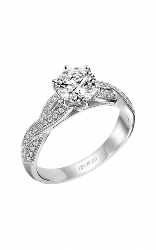 ArtCarved Contemporary Engagement ring 31-V200ERW-E product image