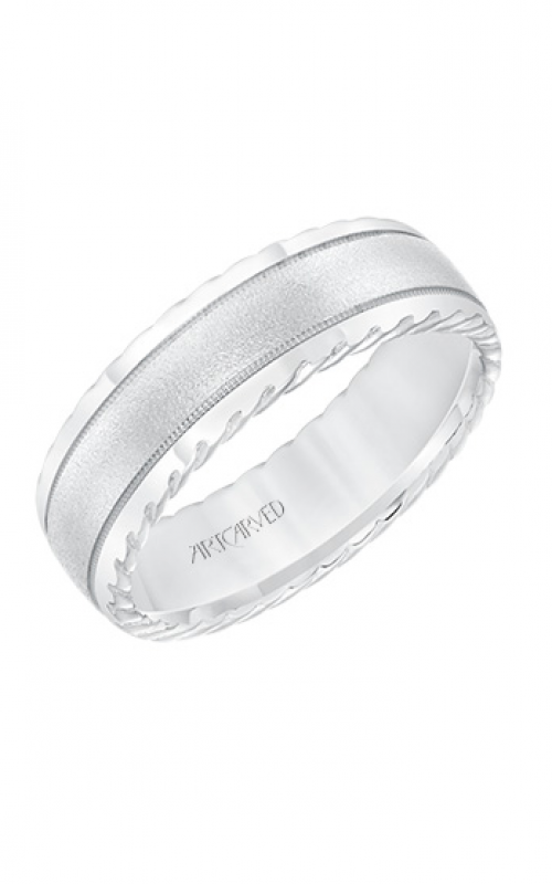 ArtCarved Engraved Wedding band 11-WV8642W7-G product image