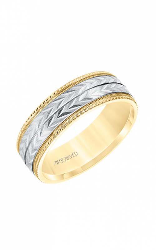 ArtCarved Wedding band Engraved 11-WV8670YW7-G product image