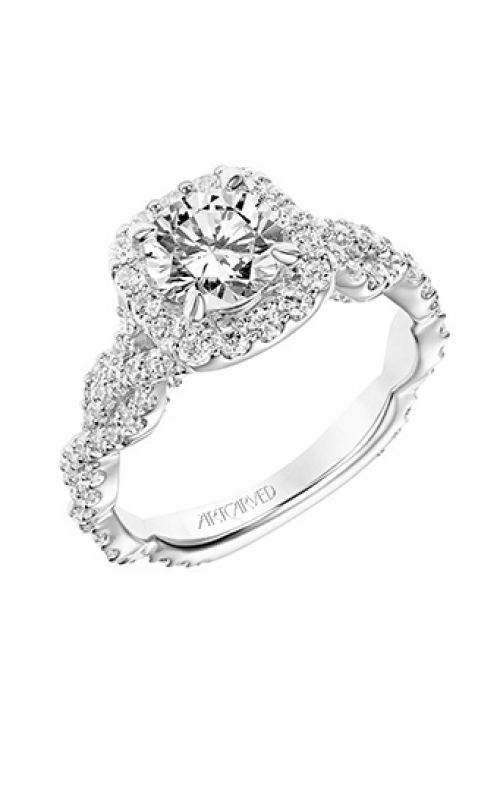 ArtCarved Contemporary Engagement ring 31-V768ERW-E product image