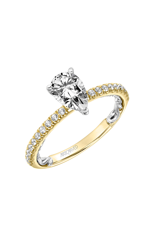 ArtCarved Lyric Engagement ring 31-V910EPYW-E product image
