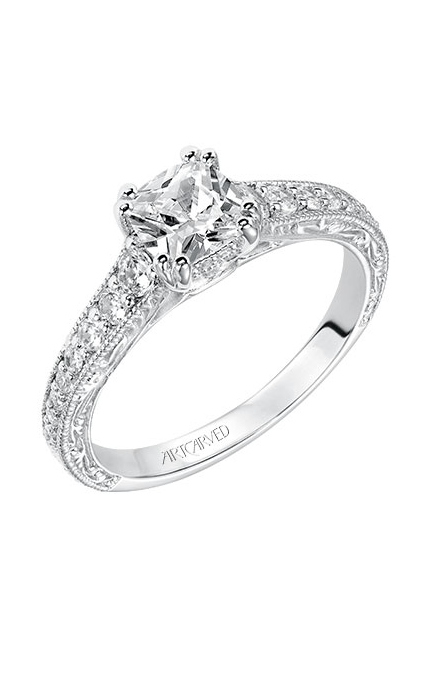 ArtCarved Vintage Engagement ring 31-V430EUW-E product image