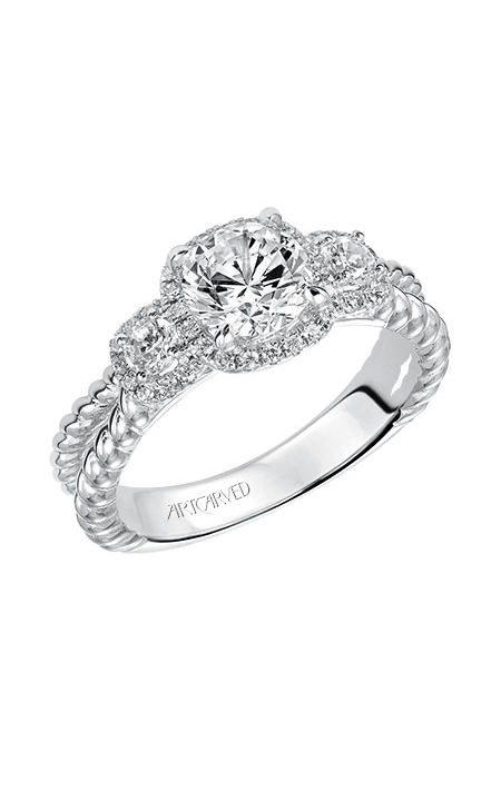 ArtCarved Contemporary Engagement ring 31-V548ERW-E product image