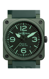 Bell and Ross Aviation BR 03 42 MM Watch BR03-92 Military Ceramic