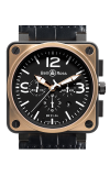 Bell and Ross Aviation BR 01 46 MM Watch BR01-94 Gold and Carbon