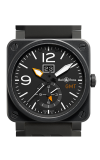 Bell and Ross Aviation BR 03 42 MM Watch BR03-51 GMT Carbon