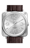 Bell and Ross Aviation BR S 39 MM Watch BR S Officer Silver