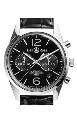 Bell and Ross Vintage BR Chronograph Watch BR126 Officer Black