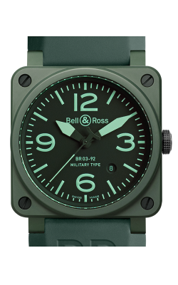 Bell and Ross Aviation BR 03 42 MM Watch BR03-92 Military Ceramic product image