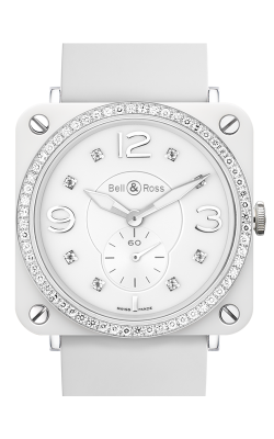 Bell and Ross Aviation BR S 39 MM Watch BR S White Phantom Diamonds